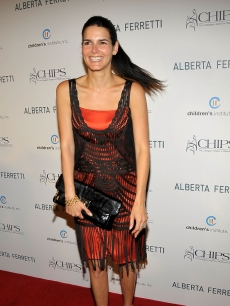 Angie Harmon attends the C.H.I.P.S. (Colleagues Helpers in Philanthropic Service) 2009 luncheon and fashion show honoring Alberta Ferretti at the Montage Beverly Hills on May 6, 2009 in Los Angeles, California