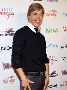 'Dancing's' Derek Hough arrives at the world premiere of the movie 'Deal' at the Brenden Theatres inside the Palms Casino Resort April 24, 2008 in Las Vegas