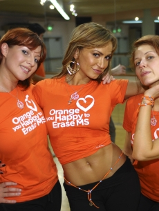 Elena Grinenko, Karina Smirnoff and Anna Trebunskaya attend Race To Erase MS 'Dancing With The Stars' Dance Rehearsal at Richard Simmons' Slimmons on May 6, 2009 in Beverly Hills, California