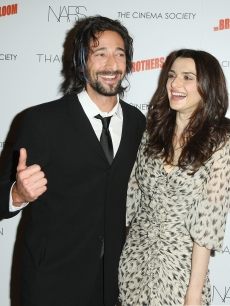 Adrien Brody and Rachel Weisz attend a screening of 'The Brothers Bloom' hosted by The Cinema Society with Thakoon and Nars at the Tribeca Grand Screening Room on May 7, 2009 in New York City