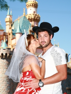 Maksim Chmerkovskiy and Karina Smirnoff visit Disneyland, May 8, 2009