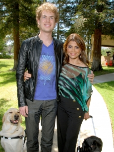 Paula Abdul donates a Guide Dog to blind American Idol contestant Scott MacIntyre and kicks-off National Guide Dog Month at Guide Dogs Of America on May 8, 2009 in Sylmar, California