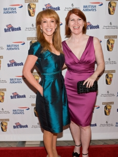 Kathy Griffin and Kate Flannery arrive at the 2nd Annual British Comedy Festival at the Four Seasons Hotel on May 8, 2009 in Beverly Hills, California