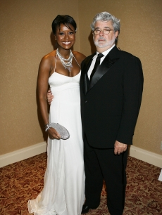 George Lucas and Mellody Hobson attend the White House Correspondents dinner, May 9, 2009