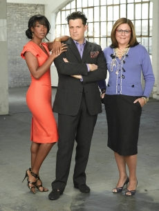 Isaac Mizrahi, Kelly Rowland and Fern Mallis from Bravo's 'The Fashion Show'