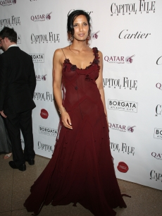Padma Lakshmi walks the red carpet during the White House Correspondents' dinner after party