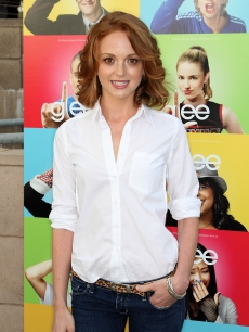 Jayma Mays attends the screening of 'Glee' at the Santa Monica High School Amphitheater on May 11, 2009 in Santa Monica