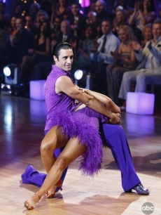 Gilles Marini and Cheryl Burke dance in the semi-final round