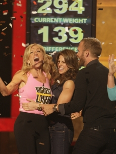 'Biggest Loser' Season 7 Winner Helen with trainers Jillian Michaels and Bob Harper