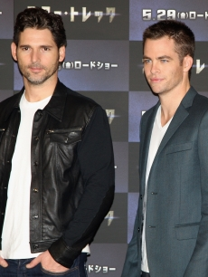 Eric Bana and Chris Pane attend the 'Star Trek' press conference at Grand Hyatt Tokyo on May 13, 2009 in Tokyo