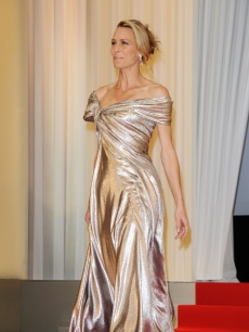 Robin Wright Penn arrives at the Opening Ceremony at the Palais des Festivals during the 62nd International Cannes Film Festival