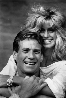 Ryan O'Neal and Farrah Fawcett, January 1984