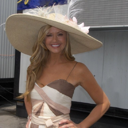 Nancy O&#8217;Dell shows off her Kentucky Derby hat