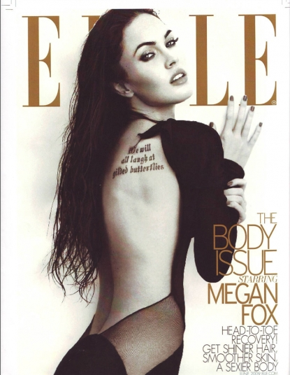 Megan Fox on the cover Elle's June issue