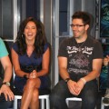 AccessHollywood.com&#8217;s Laura Saltman shares a laugh with &#8216;Idol&#8217;s&#8217; Danny Gokey, May 21, 2009