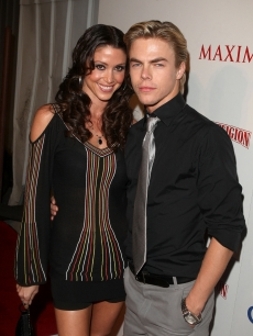 Cuties Shannon Elizabeth and choreographer Derek Hough pose for the cameras at Maxim's 10th Annual Hot 100 Celebration