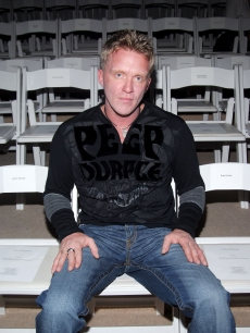 Anthony Michael Hall in the front row at the Custo Barcelona Spring 2007 Fashion show during Olympus Fashion Week at the Promenade tent in Bryant Park