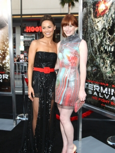 Moon Bloodgood and Bryce Dallas Howard arrive at the premiere of Warner Bros. &#8216;Terminator Salvation&#8217; at Grauman&#8217;s Chinese Theatre on May 14, 2009 in Hollywood