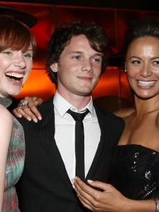 Bryce Dallas Howard, actor Anton Yelchin and actress Moon Bloodgood attend the after party for Warner Bros. Pictures&#8217; &#8216;Terminator Salvation on May 14, 2009 in Hollywood