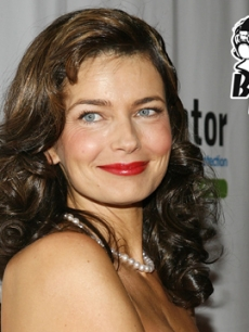 Paulina Porizkova is all smiles on the red carpet