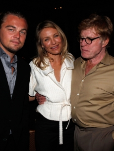 Actor Leonardo DiCaprio, Actress Cameron Diaz and Actor Robert Redford