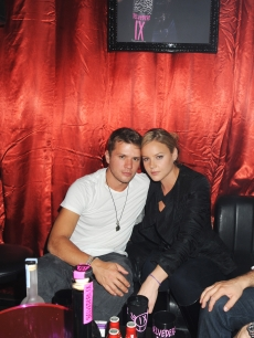 Ryan Phillippe and Abbie Cornish attend The Launch Of Belvedere IX party held at the Le Baron on May 15, 2009 in Cannes, France