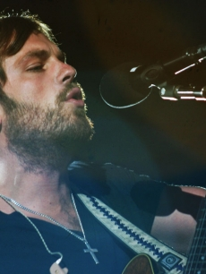 Caleb Followill of Kings of Leon at the KROQ Weenie Roast, May 16, 2009, Irvine, Calif.