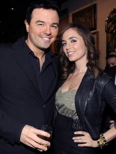 Seth MacFarlane and Eliza Dushku attend the Fox 2009 Programming Presentation on May 18, 2009 in New York City