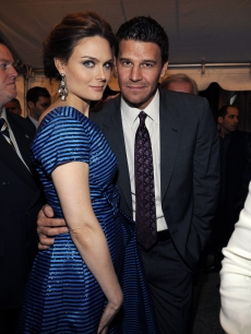 Emily Deschanel and David Boreanaz attend the Fox 2009 Programming Presentation on May 18, 2009 in New York City