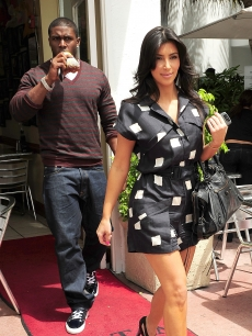 Reggie Bush and Kim Kardashian step out in Miami, FL, May 18, 2009