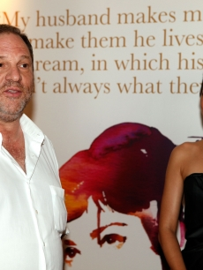 Producer Harvey Weinstein and actress Marion Cotillard attend The Weinstein Company Celebrates 'Nine' in Cannes at the Grey d'Albion Hotel during the 62nd Annual Cannes Film Festival on May 18, 2009 in Cannes, France.