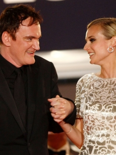 Director Quentin Tarantino and actress Diane Kruger leave the &#8216;Inglourious Basterds&#8217; premiere in Cannes, May 20, 2009