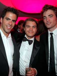 Eli Roth, Emile Hirsch and Robert Pattinson during the amfAR Cinema Against AIDS 2009 benefit after party at the Hotel du Cap during the 62nd Annual Cannes Film Festival