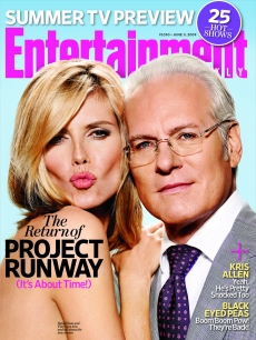 'Project Runway' stars Heidi Klum and Tim Gunn pose on the cover of Entertainment Weekly