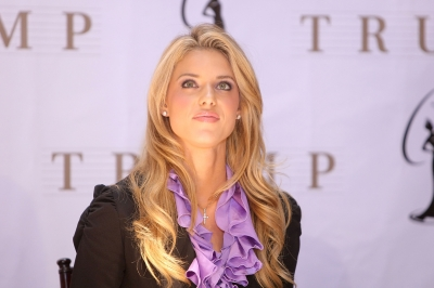 Miss California USA, Carrie Prejean, attends a press conference at Trump Tower on May 12, 2009 in New York City