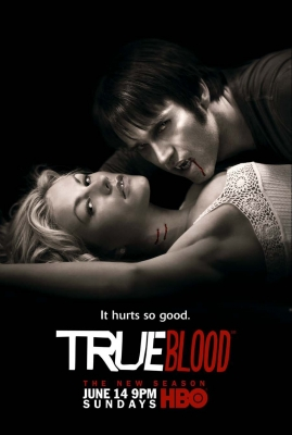 Star-crossed lovers Sookie Stackhouse and Bill Compton in in character art for HBO's 'True Blood' Season 2