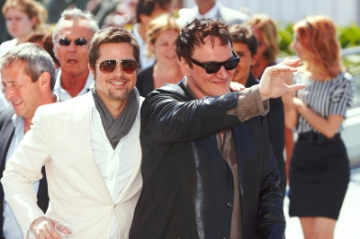 Brad Pitt and Quentin Tarantino arrives at the Palais des Festivals of Cannes on May 20, 2009 in Cannes, France