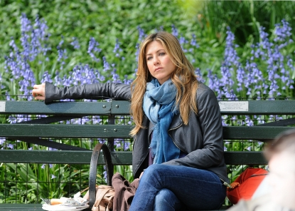 Jennifer Aniston seen on location for 'The Baster' on the streets of Manhattan on May 14, 2009 in New York City