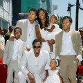 Sean 'Diddy' Combs and his family attend the ceremony honoring him with a star on the Hollywood Walk of Fame on May 2, 2008