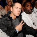 Eminem is seen in the audience at the 18th Annual MTV Movie Awards on May 31, 2009 in Los Angeles