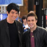 Kris Allen and Adam Lambert appear on NBC's 'Today' show at Rockefeller Center