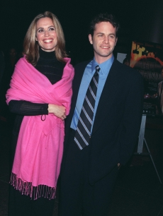 Kirk Cameron and his wife actress Chelsea Noble attend the Los Angeles theatrical premiere of 'Left Behind,' the movie based on the New York Times best-selling novel, January 26, 2001 in Los Angeles, CA