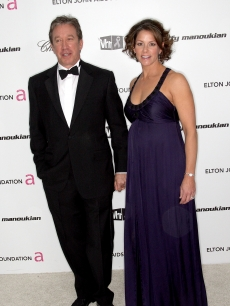 Tim Allen and wife Jane Hajduk arrive at the 17th Annual Elton John AIDS Foundation's Academy Award Viewing Party held at the Pacific Design Center on February 22, 2009 in Hollywood, California