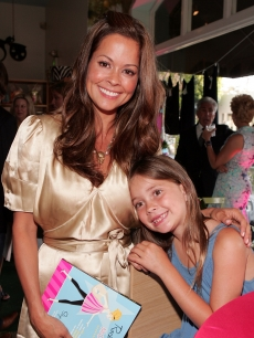 Brooke Burke and daughter Meriah Fisher pose at author Skye Hoppus' ''Rock Star Momma'' Book launch party held at the TreeHouse Social Club on June 21, 2007 in LA, California