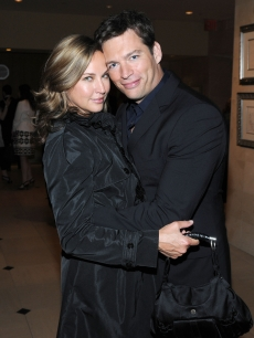 Jill Goodacre and husband Harry Connick Jr. at the opening of the Patrick Melville Salon in NYC on May 28, 2009