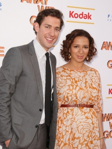 John Krasinski and Maya Rudolph attend a special New York screening of 'Away We Go' at Landmark's Sunshine Cinema on June 1, 2009