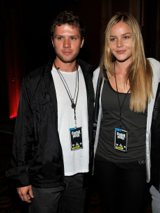 Ryan Phillippe and Abbie Cornish arrive at the launch of 'DJ Hero' on June 1, 2009 in Los Angeles, California