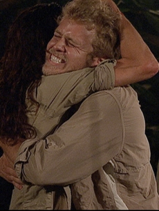 Spencer Pratt gives castmate Janice Dickinson a heartfelt hug right before his final exit from the show