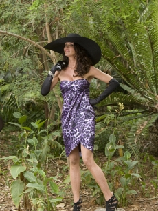 Janice Dickinson strikes a pose while shooting promos for 'I'm A Celebrity…Get Me Out Of Here'