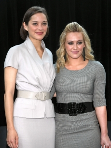Marion Cotillard and Hilary Duff attend the Bike In Style challenge winner announcement and awards ceremony on June 2, 2009 in New York City